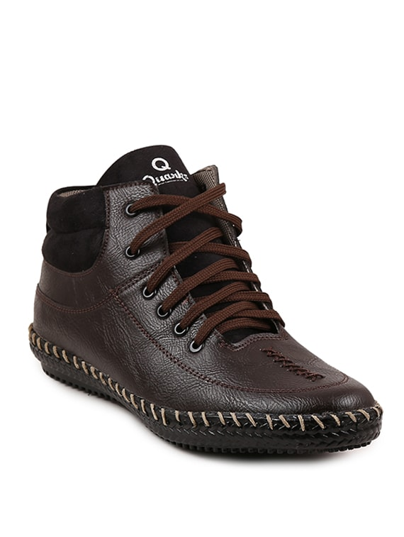 Buy Brown Synthetic Low Ankle Boots by Quarks - Online shopping for Boots  in India  17c6604e6