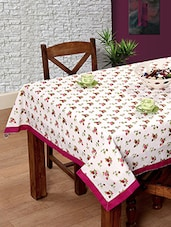 Multi Cotton 6 Seater Table Cloth - By