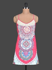 Printed Spaghetti Strap Pink Top - PINK LACE