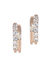 Silver Gold Stone Metallic Earrings - By - 1148258