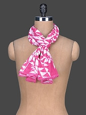 Printed Cotton Scarf - Red Lorry
