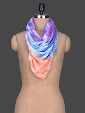 Printed Viscose Scarf - Red Lorry