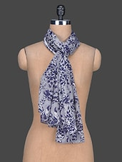 Floral Printed Viscose Scarf - Red Lorry