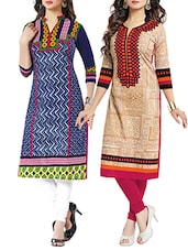 Set Of 2 Cotton Kurta - By