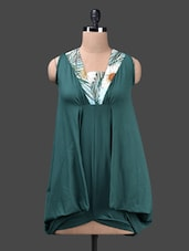 Green Poly Knit Top - Glam And Luxe