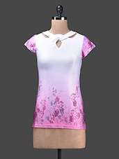 Multicolour Floral Poly Knit Top - Glam And Luxe