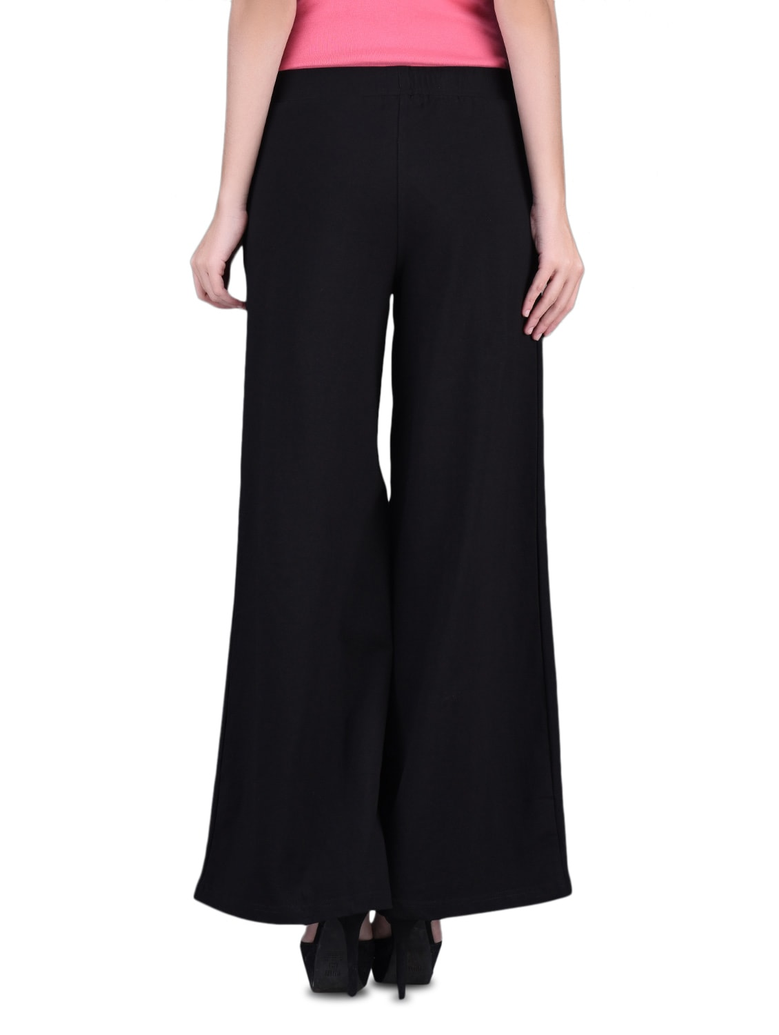 7f7a1be18db Buy Black Cotton Lycra Knit Palazzo Pants for Women from Finesse for ₹1293  at 12% off