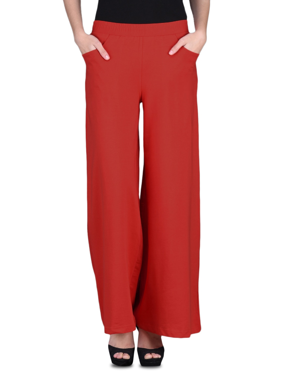 73e67dbaf80 Buy Red Cotton Lycra Knit Palazzo Pants for Women from Finesse for ₹1469 at  0% off