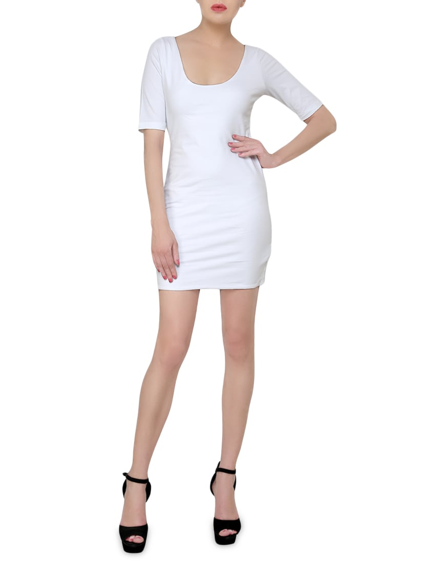 05b153d2e64 Buy White Cotton Lycra Knit Bodycon Dress for Women from Finesse for ₹1469  at 0% off