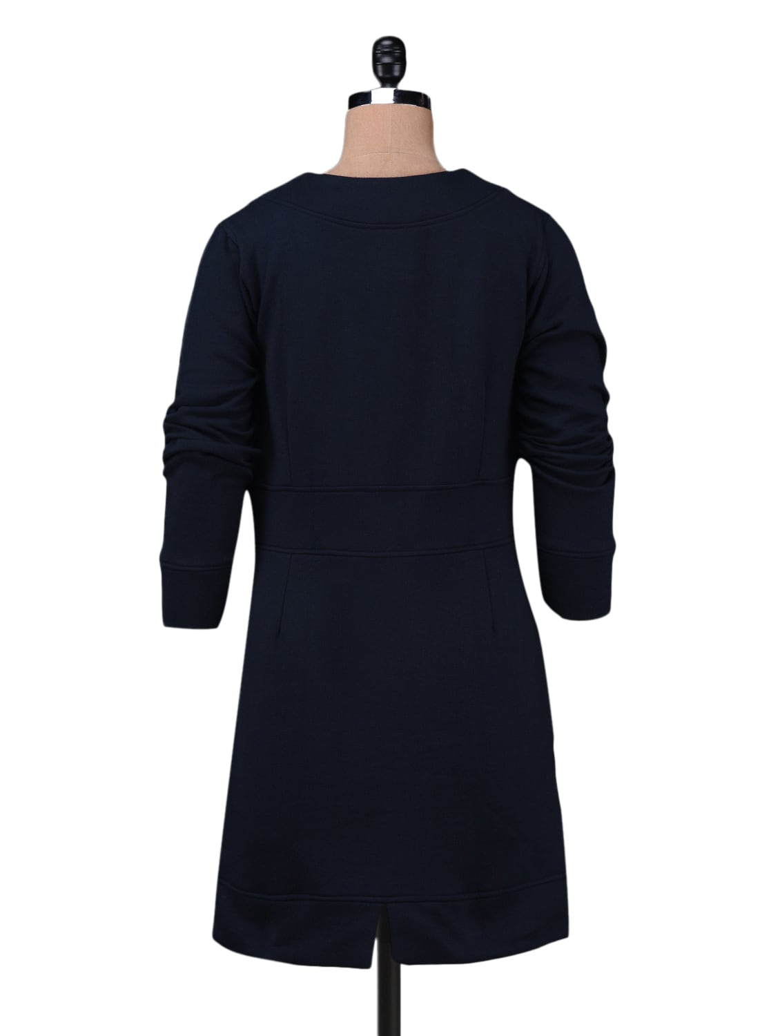 Buy Navy Blue Fleece V-neck Long Dress by Finesse - Online shopping for  Dresses in India  c56ee39aaf282