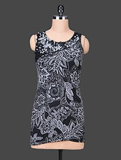 Black Printed Multi Blend Shift Dress - SPECIES
