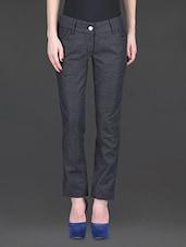 Dark Grey Regular Fit Trousers - SPECIES