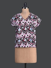 Multi Printed V-neck Top - Label VR