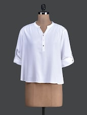 Solid White Full Sleeve Top - Label VR