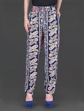 Paisley Printed Full Length Pants - Label VR