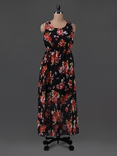 Floral Print Georgette Maxi Dress - G&M Collections
