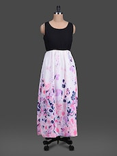Floral Georgette Maxi Dress - G&M Collections