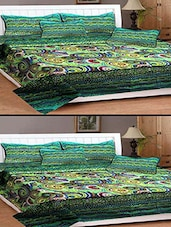 SHOPGRAB Multicolor 3D Double Bedsheet Combo (2 Bedsheet  4 pillow covers) -  online shopping for bed sheet sets
