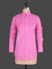 Solid Light Pink Full Sleeve Shirt - House Of Tantrums