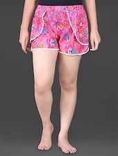 Paisley Printed Lace Border Shorts - House Of Tantrums