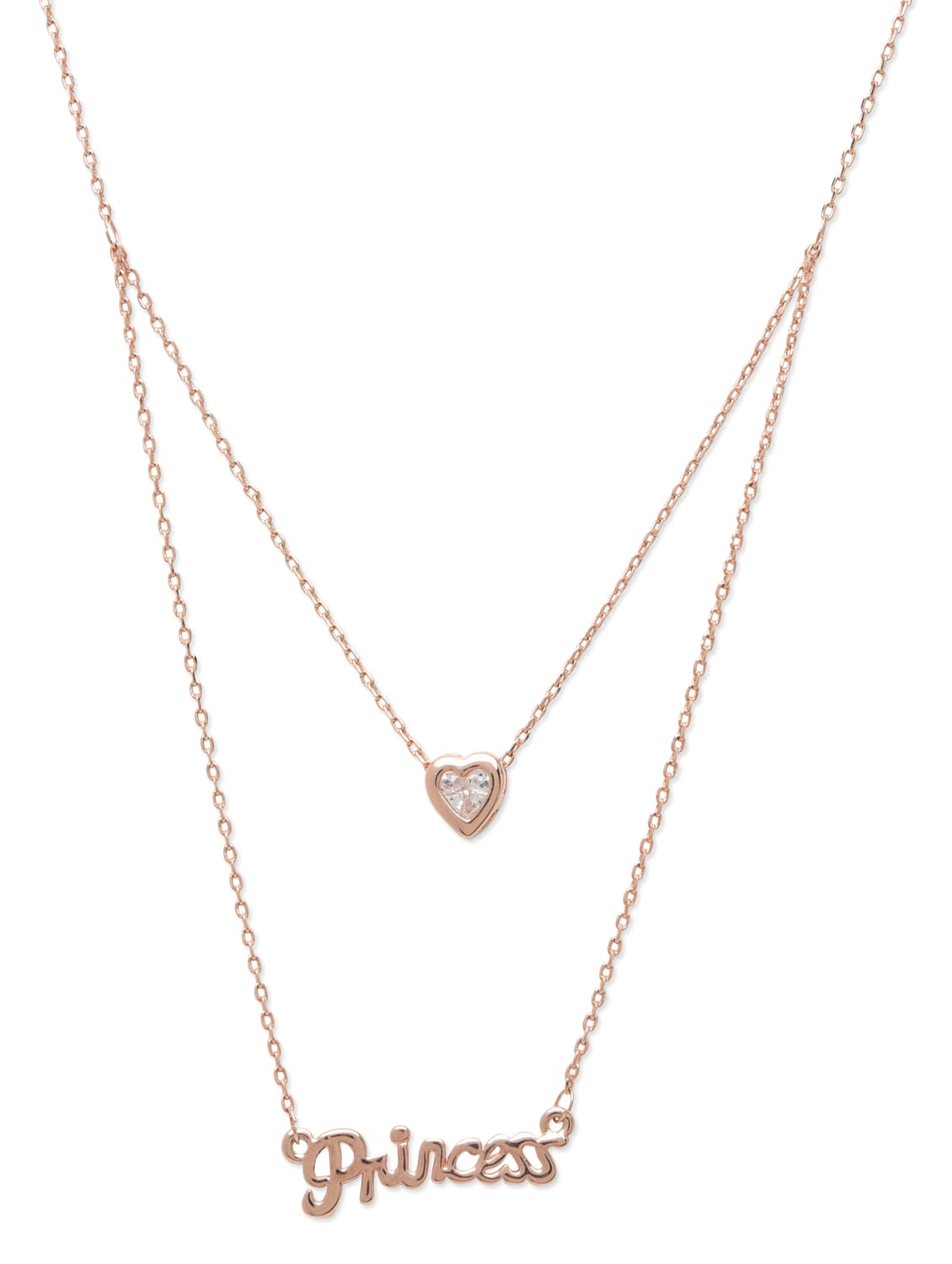 Rose 'princess' By Heart Gold And Necklace Layered Buy Pendant UCHqq