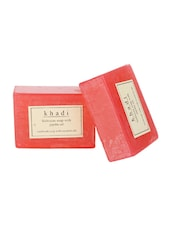 Khadi Hibiscus Soap With Jojoba Oil - Pack Of 2, 250 Gms - By