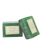 Khadi Neem Tulsi Bathing Soap With Scrub - Pack Of 2, 250 Gms - By