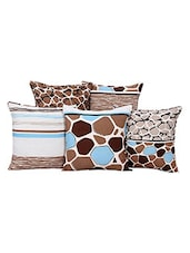 Multi Colored, Poly Cotton Set Of 5 Cushion Covers - By