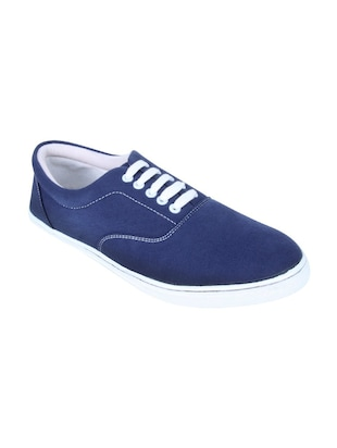 blue canvas lace up sneakers -  online shopping for Sneakers