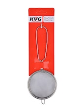 KVG Stainless Steel Tea Strainer/Chalni/Tea Filter, 7.5 cms, Round, Silver -  online shopping for Colanders & Strainers
