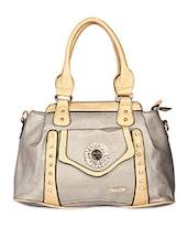 Rectangle Shape Solid Color Embellished Hand Bag - KIARA
