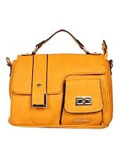 Solid Color Edge Embellished Strap Sling Bag - By