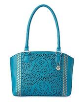 Turquoise Cut Work Design Handbag - Donna & Drew