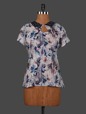 Short Sleeves Printed Cotton Top - VICTORIAN CLOTHING