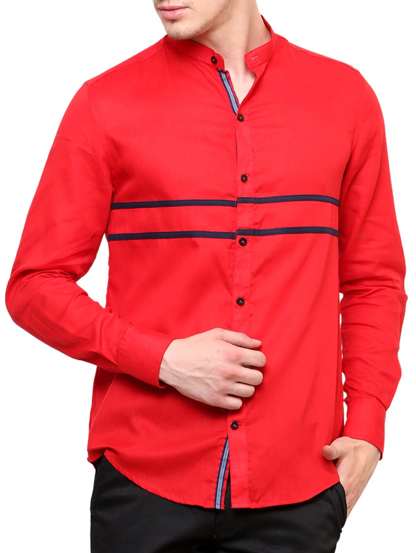 a252edc7 Red Cotton Casual Shirt