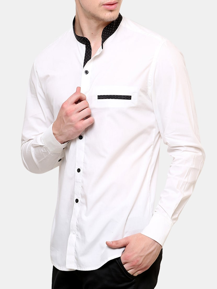 37c540bb0e6c5 Buy White Cotton Casual Shirt for Men from Blackbuk India for ₹793 at 47%  off