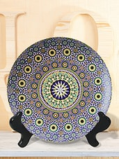 Blue  Moroccan ceramic plastic plate -  online shopping for Wall Hanging