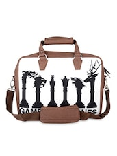 Brown Game Of Thrones Faux Leather Laptop Bag - THE BACKBENCHER