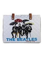 White Beatles Flex Laptop Sleeve - THE BACKBENCHER