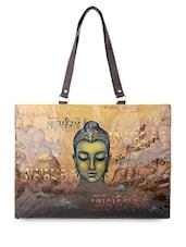 Beige Buddha Flex Tote Bag - THE BACKBENCHER