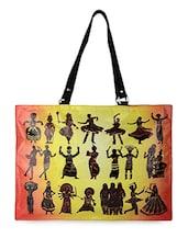 Multicolor Indian Dances Flex Tote Bag - THE BACKBENCHER