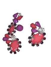 Multicolour Metallic Acrylic Stones Earrings - Trinketbag