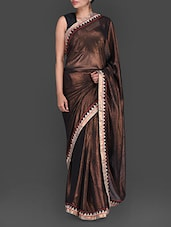 Black And Gold Georgette Saree - Bollywood Designz