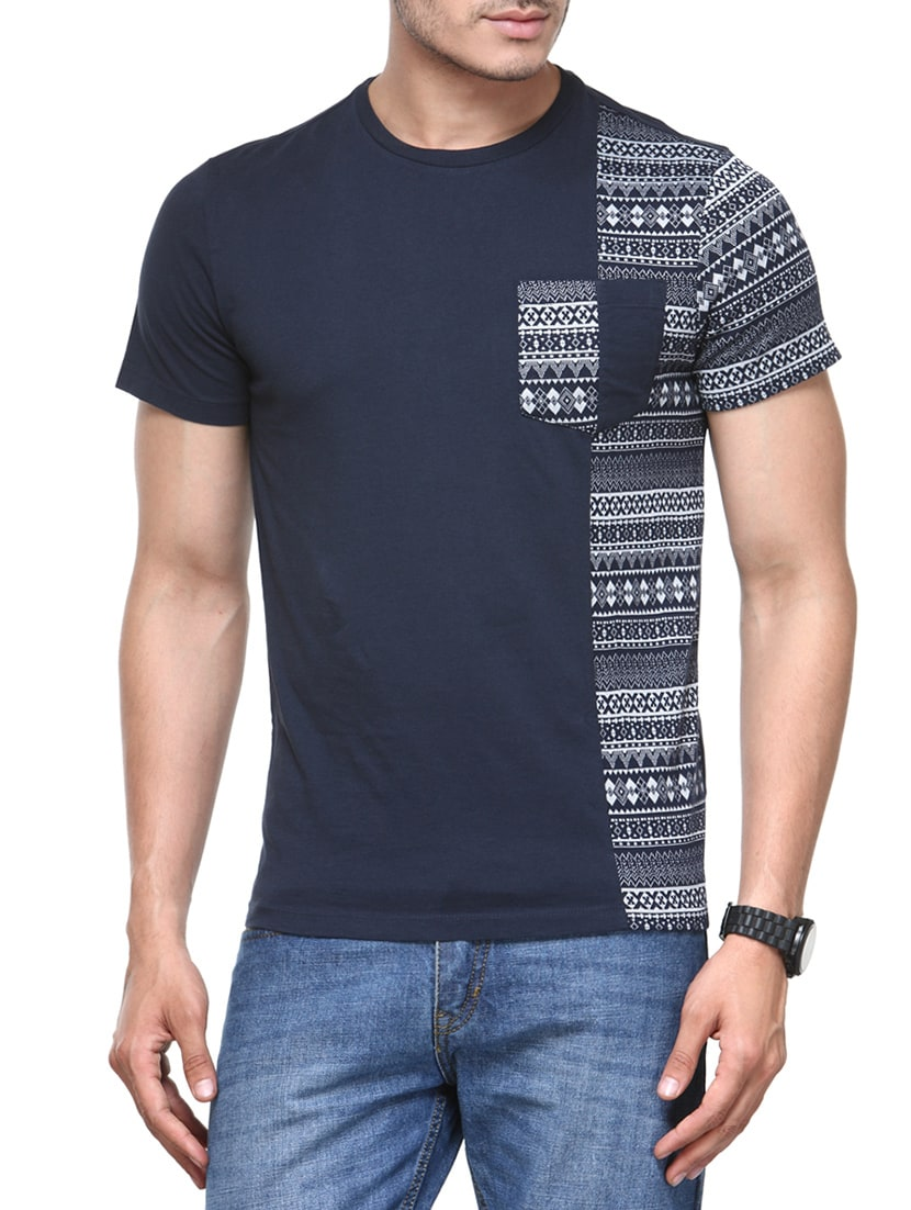 1197e38eb Buy Blue Cotton Tshirt by Be Pure - Online shopping for T-shirts in ...