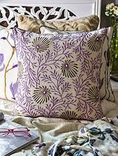 Purple Cotton Cushion Cover - Vista