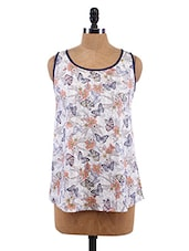 Floral Print Sleeveless Top - Sepia
