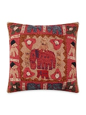 Multicolored Cotton Embroidered And Patch Worked Cushion Covers - By - 1158628