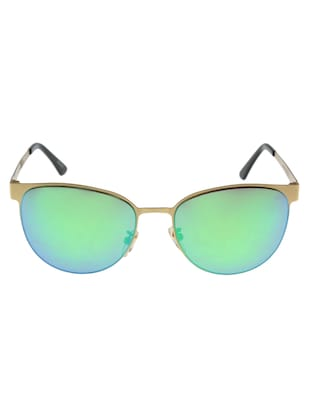 AlfaBravo Unisex Oval Gold Sunglass AlfaBravo-WINGTIP-C2 -  online shopping for Sunglasses