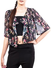 Black Floral Printed Shrug - The Style Aisle