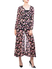 Floral Printed Black Maxi Dress - The Style Aisle